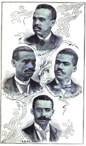 """""""Benjamin Pelham, Robert Pelham Jr., William H. Anderson, Walter H. Stowers"""""""