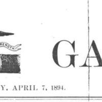 """""""Cleveland Gazette"""" banner"""